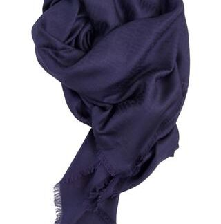 Eksklusivt blåt tørklæde i silke blend Moschino