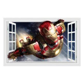 Iron Man wallsticker. Vindue i væggen. 60x90cm