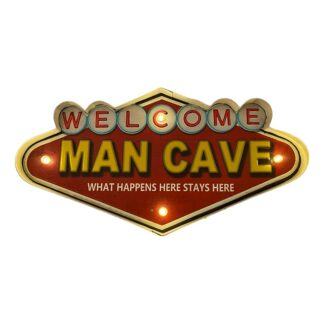 Retro MAN CAVE skilt med lys