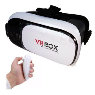 VR Box 2.0 - Virtual Reality 3D briller med controller (fjernbetjening)