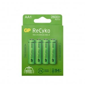 GP ReCyko Genopladelige AA batterier 2600 mAh - 4 stk.