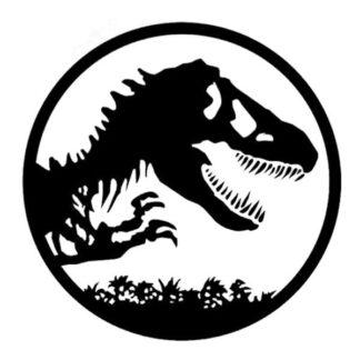 Dinosaurus wallsticker. Jurassic Park. 57x57cm.
