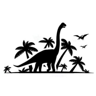 Dinosaurus wallsticker. Langhals - Brachiosaurus. 42x74cm.