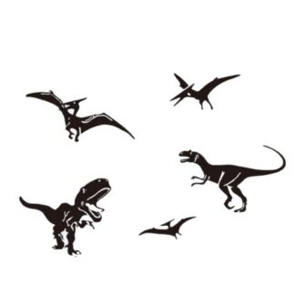 Flot dinosaurus wallsticker med 5 forskellige dinosaur fra urtiden