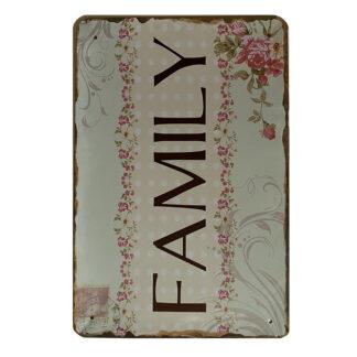 Metalskilt - Family