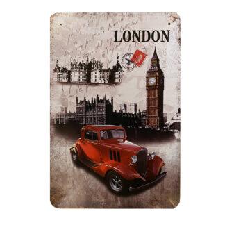 Metalskilt - London