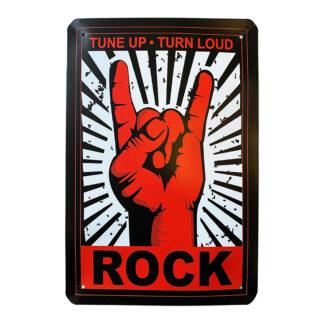 Metalskilt - Rock