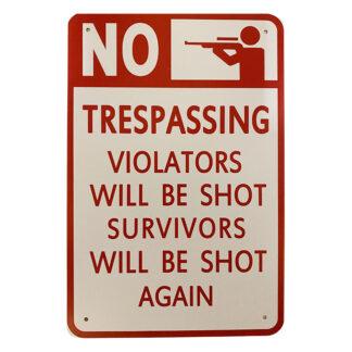 Metalskilt - Trespassing
