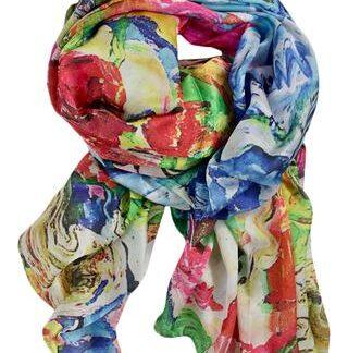 Oversized tørklæde i silke blend