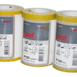 Sandpapirsrulle 93mmx5m Korn P120