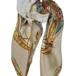 Silketørklæde i douce farver Pollini
