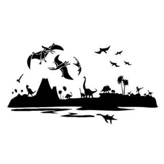 Stor dinosaurus wallsticker. Fascinerende dino verden. 75x138cm