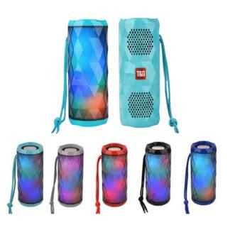 Bærbar bluetooth højtaler med seje LED lyseffekter og dobbelt bass