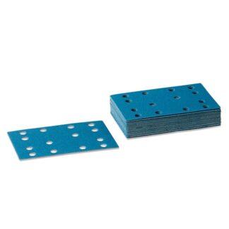 80x133mm Sandpapir til rystepudser med velcro - 25 stk/pakke Korn P100