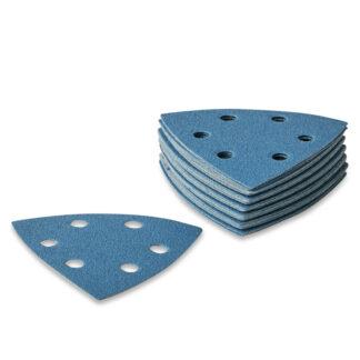 90x90x90mm Sandpapir til trekantsliber 6 huller - 25 stk/pk Korn P150