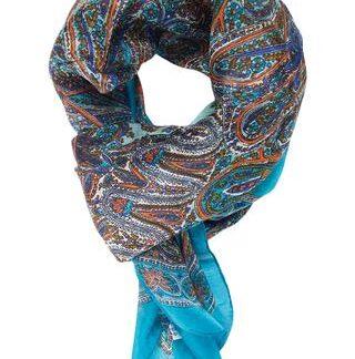 Delikat turkis silketørklæde