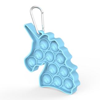 Fidget Toys - Pop It Bubbles - Enhjørning Nøglering (flere farver)