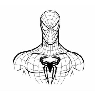 Flot Spiderman wallsticker i sort/hvid. 50x52cm
