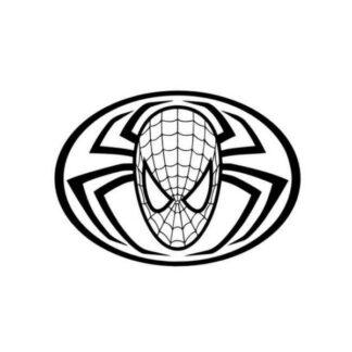 Flot Spiderman wallsticker. Spiderman logo. Lille. 25x35cm