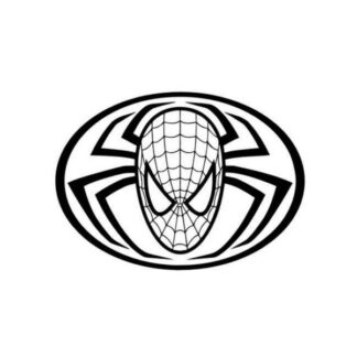 Flot Spiderman wallsticker. Spiderman logo. Stor. 35x50cm
