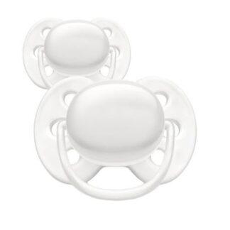 Philips Avent Ultra Soft, Str. 1 (0-6 Mdr.), Symmetrisk - Silikone, Artic White