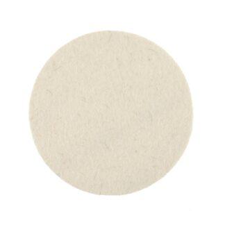 Polishing Felt Pad 125x6mm Grip White