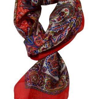 Rødt silke tørklæde