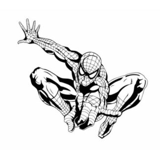 Spiderman wallsticker. Spiderman vogter her. 60x55cm