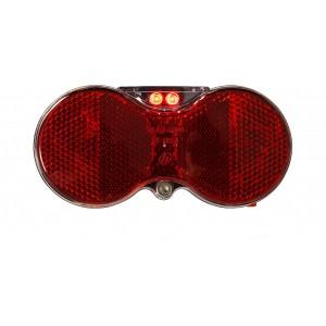 Baglygte Mixbike H-vision 2-dioder M/batteri - Cykellygte