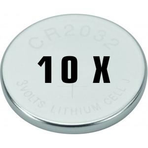 Batteri Lithium 3v Cr2032 10 Stk. - Batteri