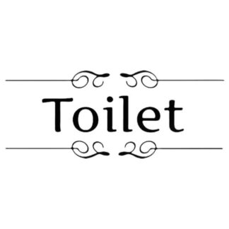 Elegant retro Toilet skilt. 28x15cm.