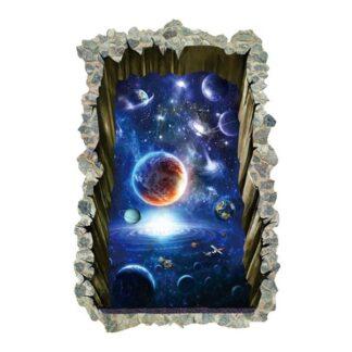 Floorsticker/wallsticker med udsigt til universet. Stort hul.