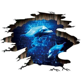 Flot Delfin wallsticker / floorsticker. Til væg eller gulv.
