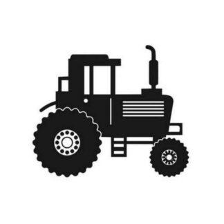 Flot traktor wallsticker til børneværelset. Traktor i silhuet.