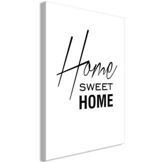 Lærredstryk Black and White: Home Sweet Home (1 del)