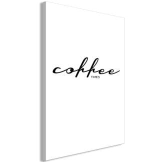 Lærredstryk Coffee Times (1 del)