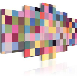 Lærredstryk Gallery of colors