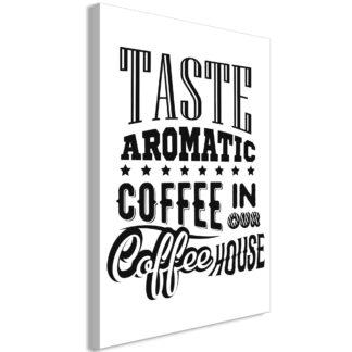 Lærredstryk Taste Aromatic Coffee in Our Coffee House (1 del)