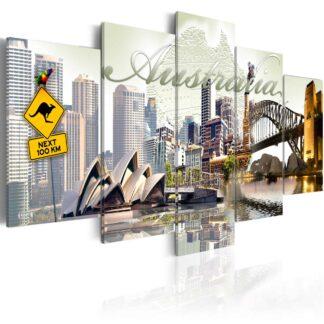 Lærredstryk Welcome to Australia!