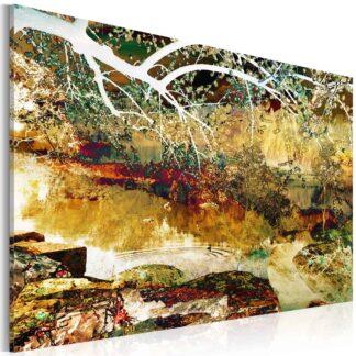 Lærredstryk park: abstract