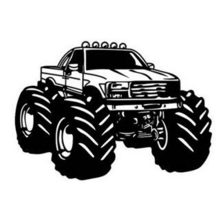 Monstertruck wallsticker. Monstertruck med MEGA hjul. 58x82cm