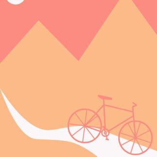 Mountainbike Pale af Justesen Plakater