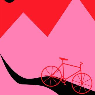 Mountainbike Pink af Justesen Plakater