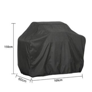 Overtræk til Grill - 150x100x60cm - Vandtæt - Inkl. opbevaringspose - Sort