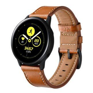 Samsung Galaxy Watch Active 1/2 - 44mm - Ægte læder urrem - Brun