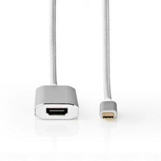 USB 3.2 - USB-C til HDMI (hun) adapter kabel - 4K / 60 Hz - Sølv - 2 m