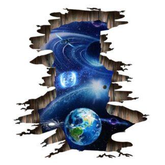 Universet floorsticker/wallsticker. Flot udsigt til Jorden mm.