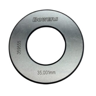 BOWERS XTR35M kontrolring 35,00 mm med UKAS kalibreringscertifikat