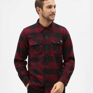 Dickies New Sacramento Flannel Shirt (Maroon, XXS)