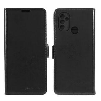 OnePlus Nord N10 - AZMARO ægte læder cover / pung - Sort